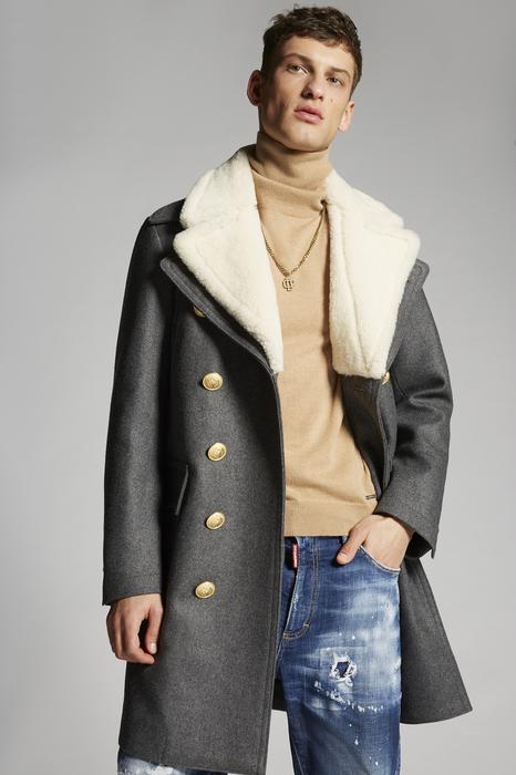 DSQUARED2 Men Coat Grey Size 38 70% Wool 24% Polyester 6% Polyamide