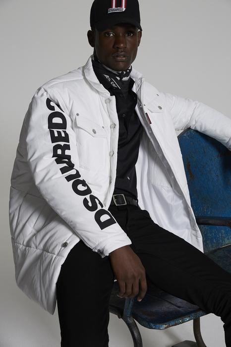 DSQUARED2 Men Coat White Size 38 100% Polyester