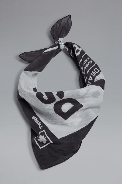 DSQUARED2 Men Foulard Black Size OneSize 100% Cotton