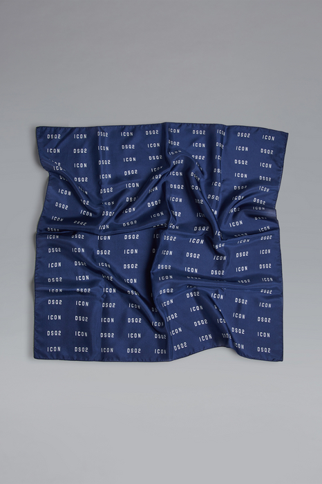 DSQUARED2 Men Foulard Dark blue Size OneSize 100% Silk