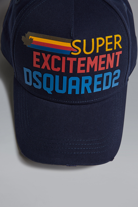 DSQUARED2 Men Hat Dark blue Size OneSize 100% Cotton
