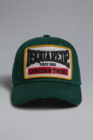 DSQUARED2 Men Hat Dark green Size OneSize 100% Cotton