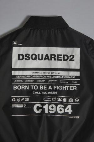DSQUARED2 Men JACKET/BLAZER Black Size 14 100% Nylon