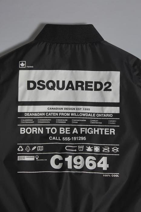 DSQUARED2 Men JACKET/BLAZER Black Size 16 100% Nylon