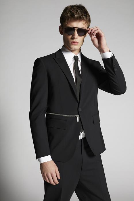 DSQUARED2 Men JACKET/BLAZER Black Size 38 95% Virgin Wool 5% Elastane