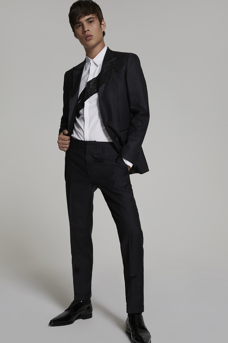 DSQUARED2 Men JACKET/BLAZER Black Size 42 65% Virgin Wool 35% Silk