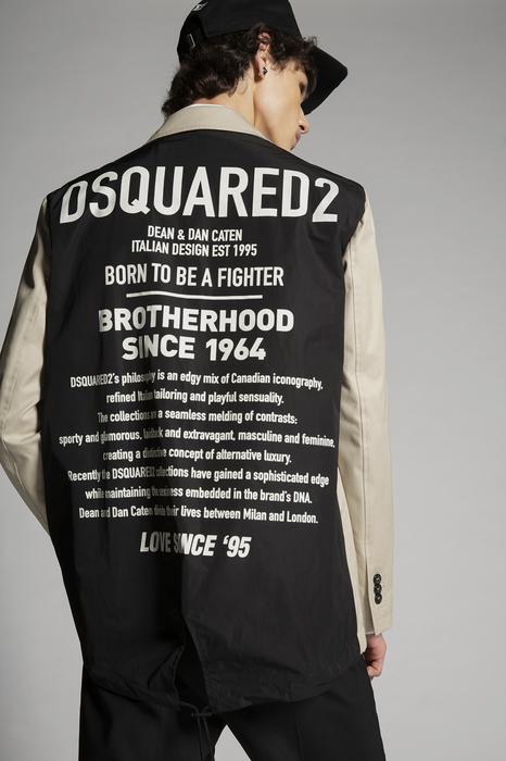DSQUARED2 Men JACKET/BLAZER Light grey Size 44 100% Cotton