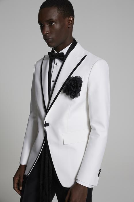 DSQUARED2 Men JACKET/BLAZER White Size 42 68% Cotton 32% Silk