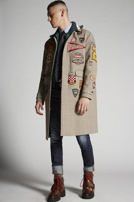 DSQUARED2 Men Jacket Multicoloured Size 40 100% Cotton