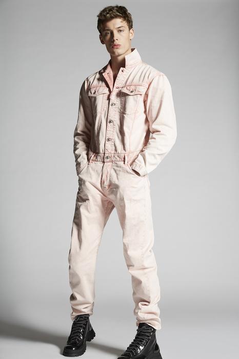 DSQUARED2 Men Jumpsuit Pink Size 36 100% Cotton