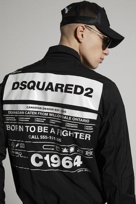 DSQUARED2 Men Kaban Black Size 34 100% Polyester