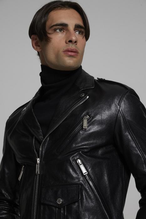 DSQUARED2 Men Kaban Black Size 36 100% Bovine leather