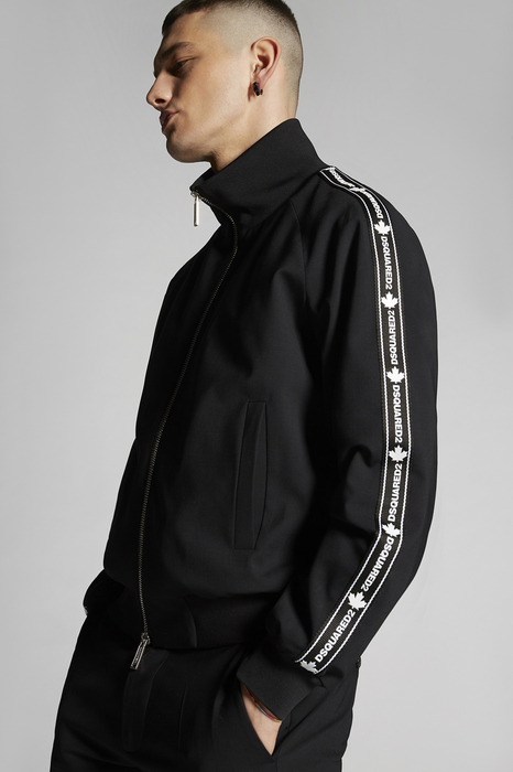 DSQUARED2 Men Kaban Black Size 36 95% Virgin Wool 5% Elastane