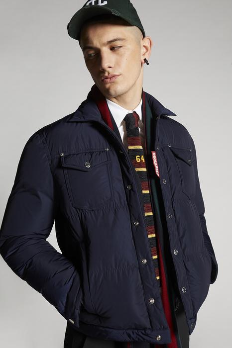 DSQUARED2 Men Kaban Dark blue Size 38 100% Polyester