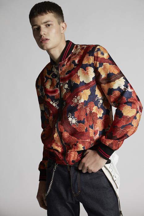 DSQUARED2 Men Kaban Orange Size 42 100% Silk