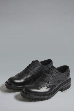 DSQUARED2 Men Lace-Up Black Size 6 100% Calfskin