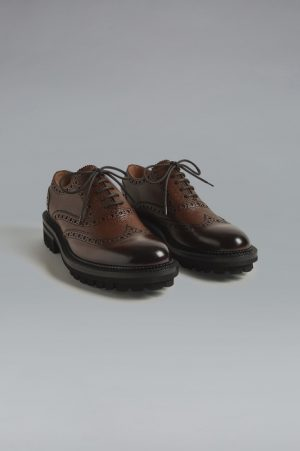 DSQUARED2 Men Lace-Up Brown Size 12 100% Calfskin
