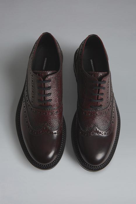 DSQUARED2 Men Lace-Up Dark brown Size 9 100% Calfskin