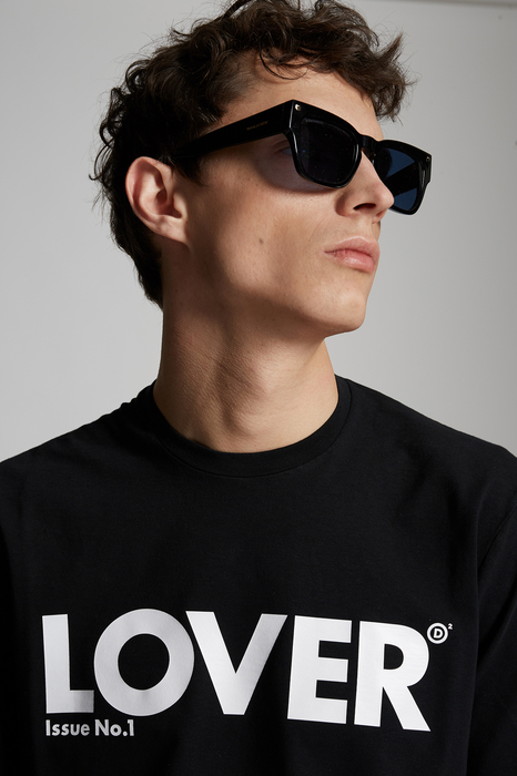 DSQUARED2 Men Long sleeve t-shirt Black Size S 100% Cotton