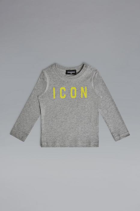 DSQUARED2 Men Long sleeve t-shirt Light grey Size 6-9 100% Cotton
