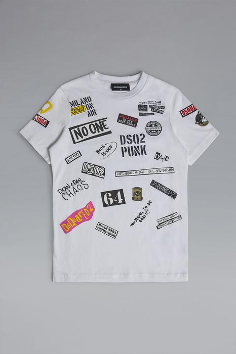 DSQUARED2 Men Long sleeve t-shirt White Size 10 100% Cotton