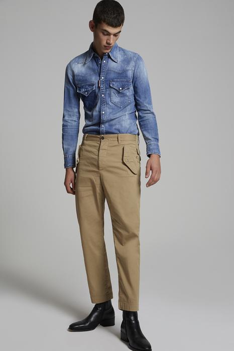 DSQUARED2 Men Pants Beige Size 34 97% Cotton 3% Elastane