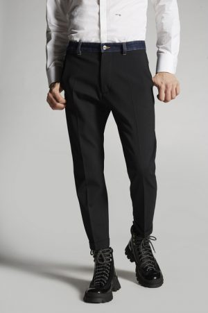 DSQUARED2 Men Pants Black Size 28 95% Virgin Wool 5% Elastane