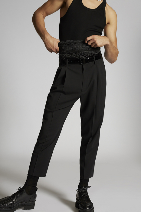 DSQUARED2 Men Pants Black Size 32 95% Virgin Wool 5% Elastane