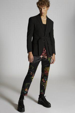 DSQUARED2 Men Pants Black Size 36 100% Polyester