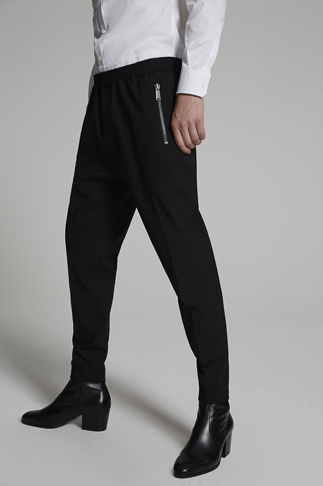 DSQUARED2 Men Pants Black Size 36 99% Virgin Wool 1% Elastane