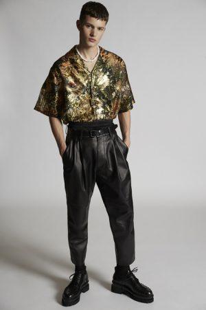 DSQUARED2 Men Pants Black Size 38 100% Lambskin