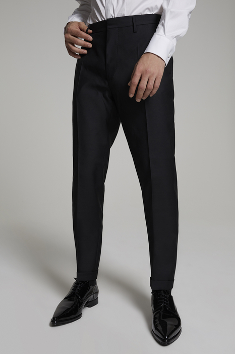 DSQUARED2 Men Pants Black Size 38 65% Virgin Wool 35% Silk