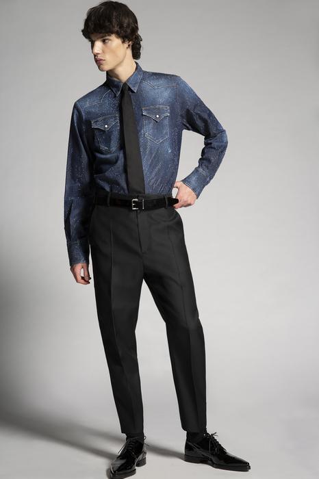 DSQUARED2 Men Pants Black Size 40 65% Virgin Wool 35% Silk