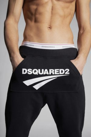 DSQUARED2 Men Pants Black Size S 100% Cotton
