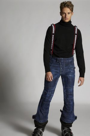 DSQUARED2 Men Pants Blue Size 26 98% Cotton 2% Elastane