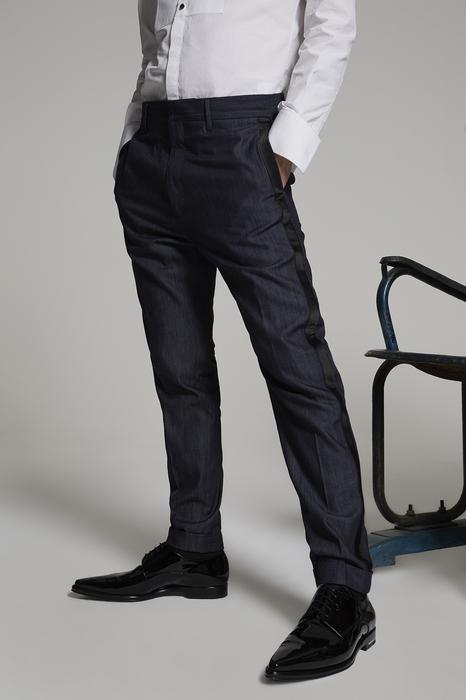 DSQUARED2 Men Pants Blue Size 38 100% Cotton