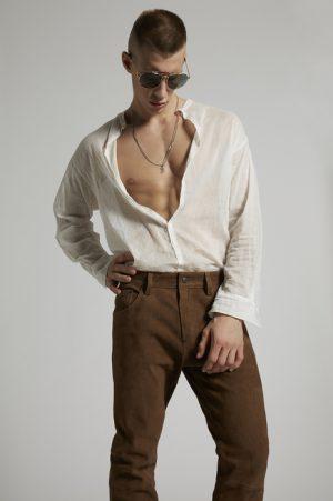 DSQUARED2 Men Pants Brown Size 26 100% Goatskin
