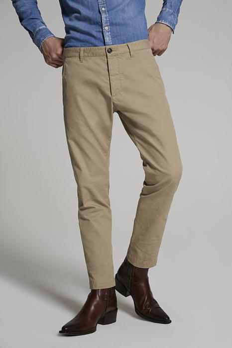 DSQUARED2 Men Pants Sand Size 34 100% Cotton