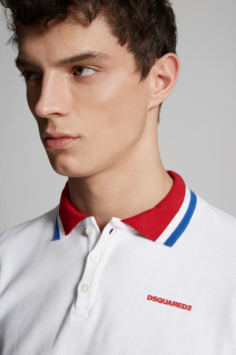 DSQUARED2 Men Polo shirt White Size XXL 100% Cotton
