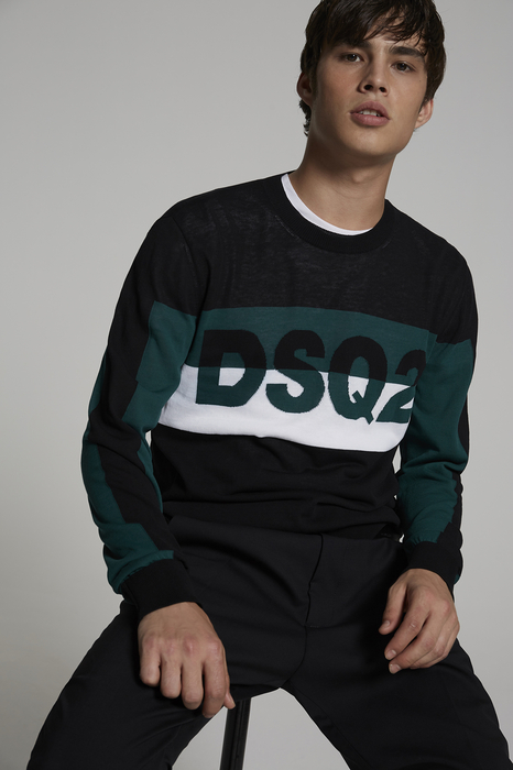 DSQUARED2 Men Pullover Black Size M 100% Cotton