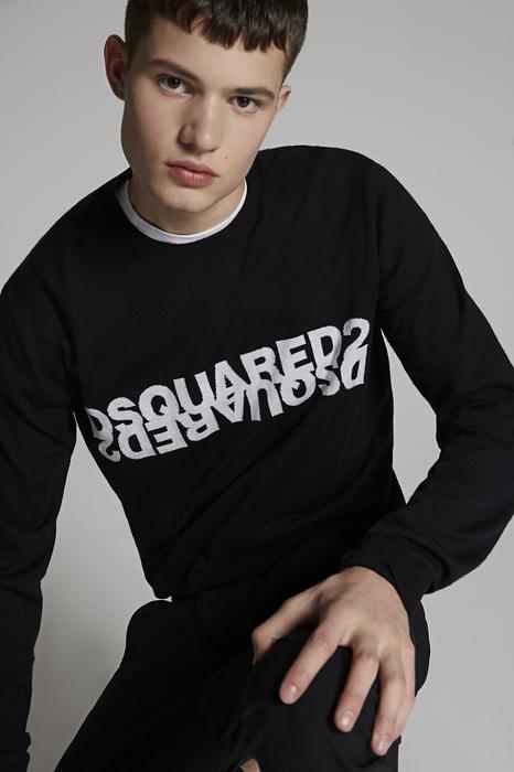DSQUARED2 Men Pullover Black Size XL 100% Virgin Wool