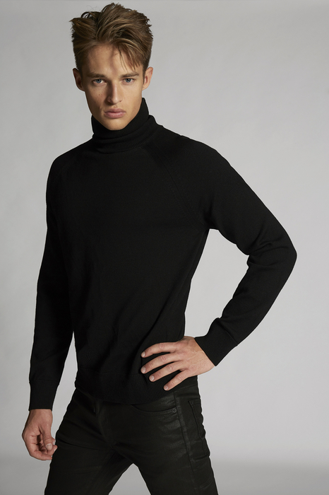 DSQUARED2 Men Pullover Black Size XS 100% Wool