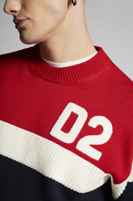 DSQUARED2 Men Pullover Blue Size S 100% Wool