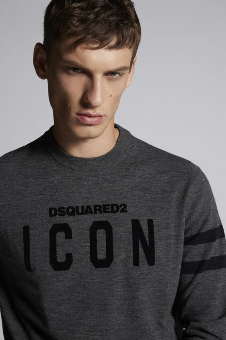 DSQUARED2 Men Pullover Dark grey Size XXL 87% Virgin Wool 13% Polyester