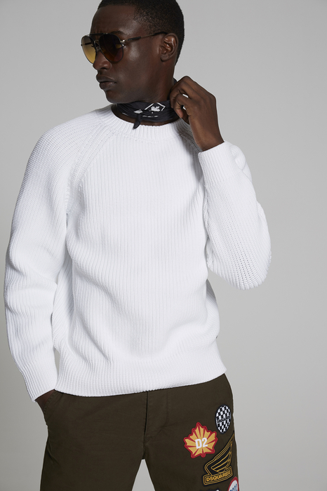 DSQUARED2 Men Pullover White Size S 100% Polypropylene