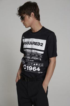 DSQUARED2 Men Shirt Black Size 36 97% Cotton 3% Elastane