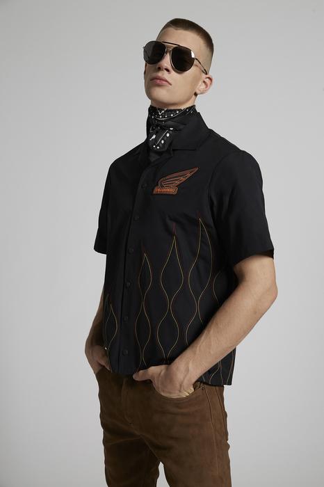 DSQUARED2 Men Shirt Black Size 40 100% Cotton