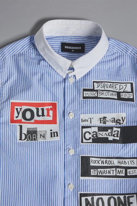 DSQUARED2 Men Shirt Bright blue Size 14 100% Cotton