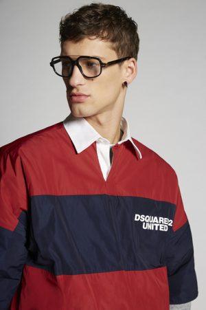 DSQUARED2 Men Shirt Red Size 42 100% Polyester Cotton Elastane