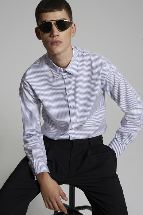 DSQUARED2 Men Shirt White Size 32 100% Cotton